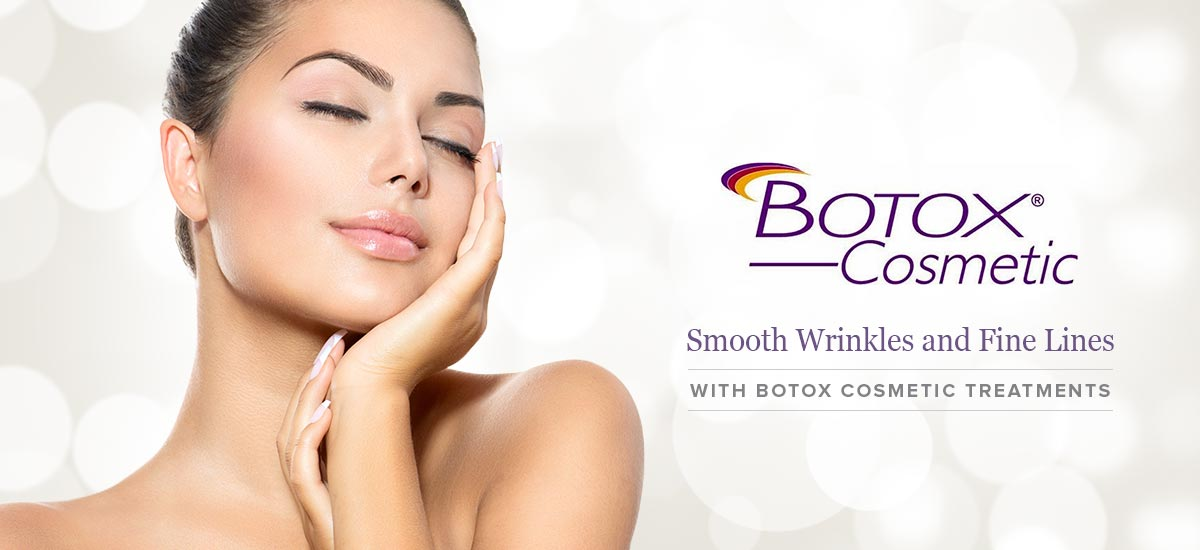 Botox Cosmetics Banner featuring a woman with beautiful skin