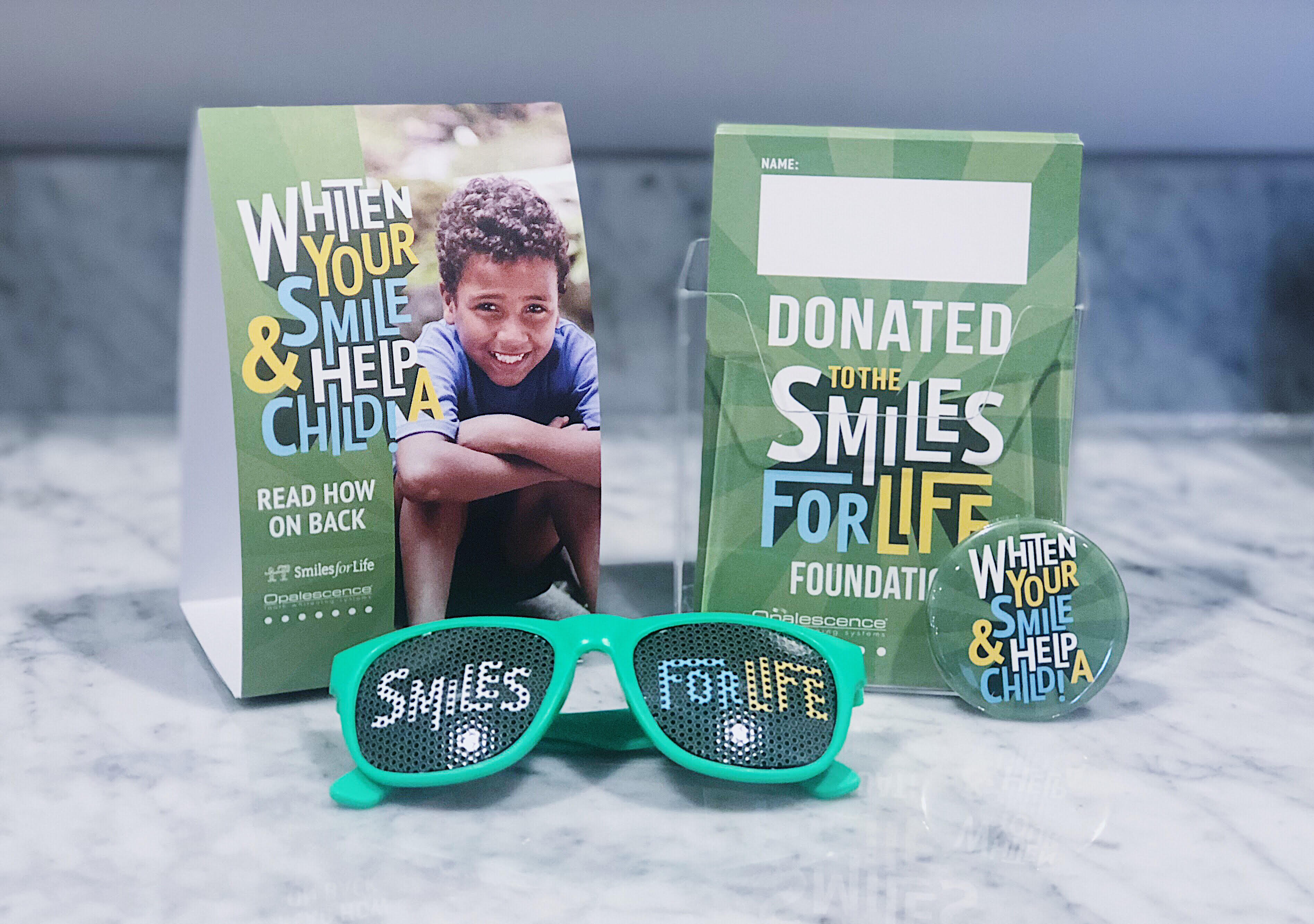 Promotional material for Donating for Smiles for Life