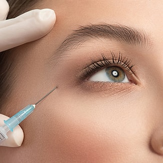 Patient getting Botox for a smoother, wrinkle-free appearance