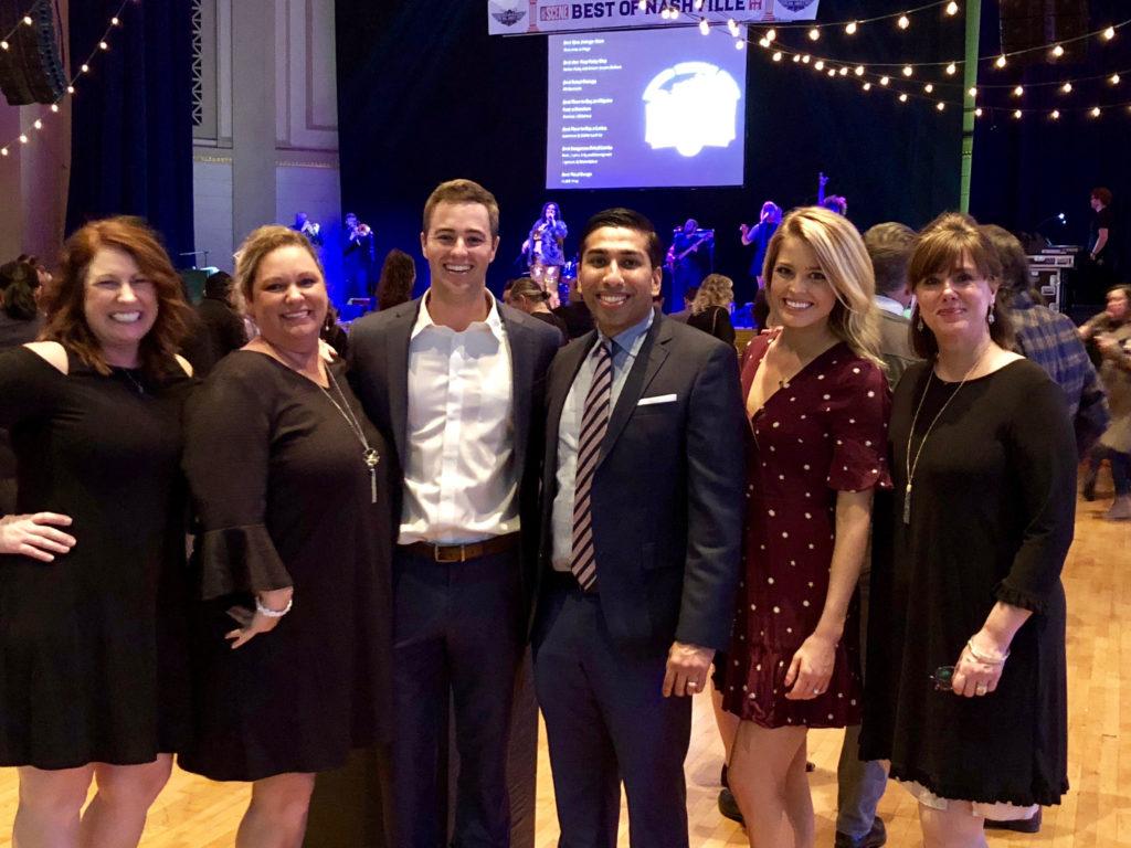 Nashville Dentistry Co.'s team at the Best of Nashville awards ceremony