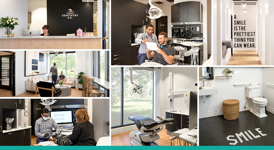 Collage of Nashville Dentistry Co.'s dental office