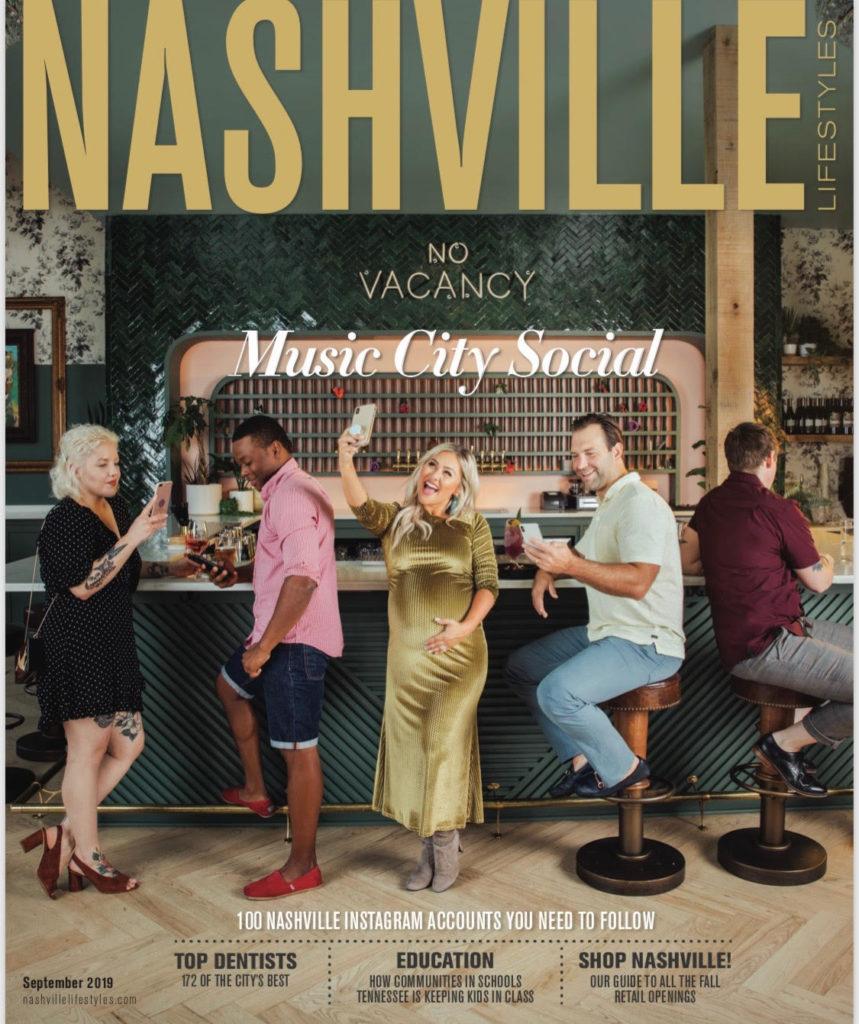 Photo of Dr. Ashish Patel in the Nashville Lifestyles magazine after winning Best Dentist in Nashville for 2019